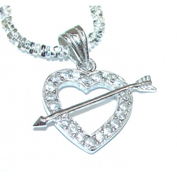 Love Authentic White Topaz .925 Sterling Silver necklace