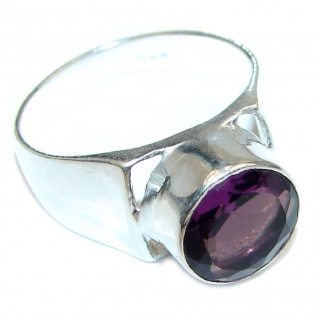 Perfect Amethyst Sterling Silver Ring s. 9