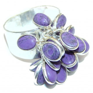 Fashion Beauty Charoite Sterling Silver cha -cha Ring s. 9