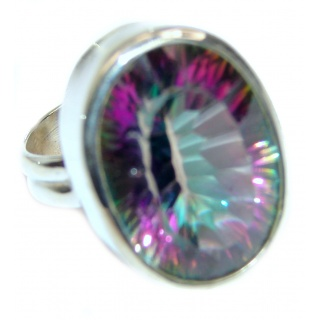 Perfect Mystic Topaz Sterling Silver Ring s. 6