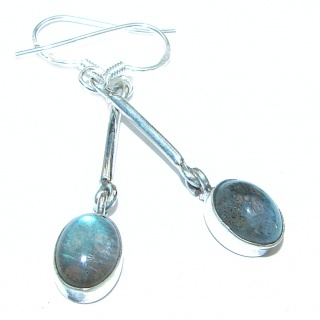 Nature Inspired Authentic Labradorite .925 Sterling Silver handmade earrings