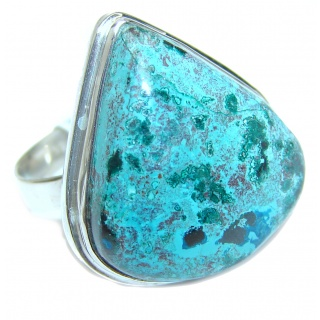Stone Of Harmony Parrots Wing Chrysocolla .925 Sterling Silver ring s. 9