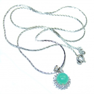 Emerald .925 Sterling Silver necklace