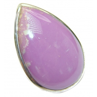 Be Bold Huge Purple Sugalite Sterling Silver handmade Ring s. 7