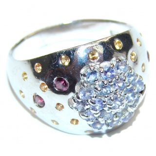 Sublime Tanzanite .925 Sterling Silver handmade Ring size 8