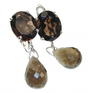 Mystic Smoky Quartz .925 Sterling Silver earrings