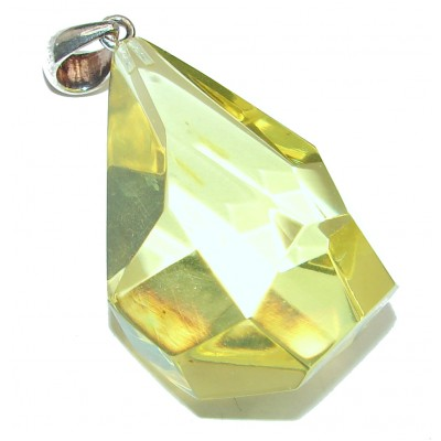 Splendid Faceted Baltic Amber .925 Amber Sterling Sterling Silver handcrafted Pendant