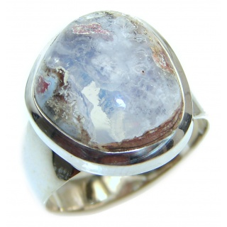 Pure Perfection Genuine Mexican Opal .925 Sterling Silver handmade Ring size 9
