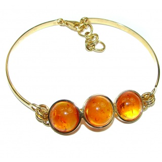Very unique Natural Baltic Amber .925 Sterling Silver handcrafted Bracelet