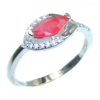 Sublime Carnelian .925 Sterling Silver handcrafted Ring s. 7 3/4