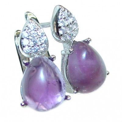 Posh Design Amethyst .925 Sterling Silver handmade earrings