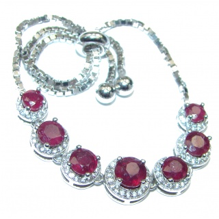 Authentic Red Ruby .925 Sterling Silver handcrafted Bracelet