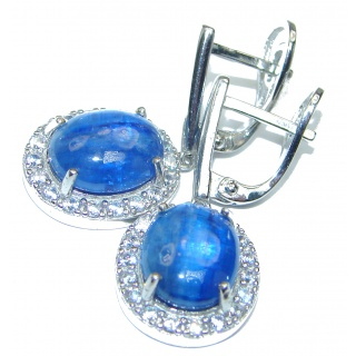 Gabriella Authentic Sapphire .925 Sterling Silver handmade earrings