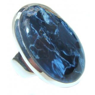 Huge best quality Silky Pietersite .925 Sterling Silver handmade Ring size 6