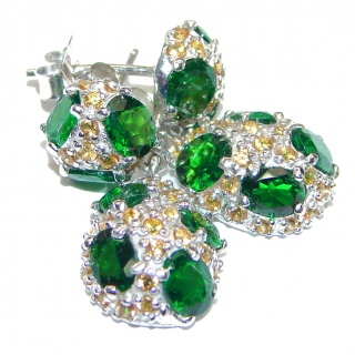 Chrome Diopside .925 Sterling Silver handcrafted earrings