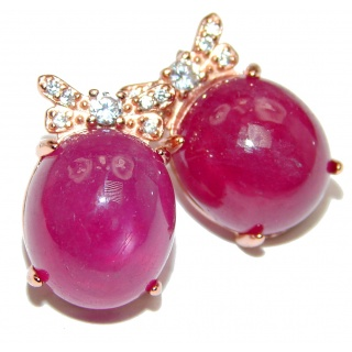 Cute Authentic Ruby .925 Sterling Silver handmade earrings