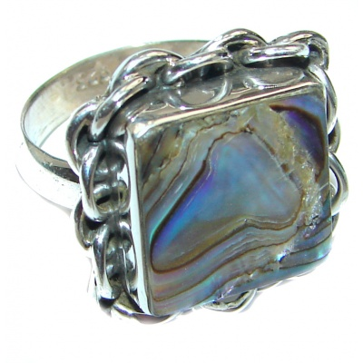 Blister Pearl .925 Sterling Silver handmade ring size 7