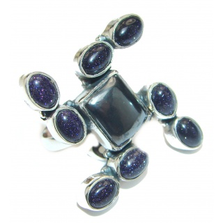 Hematite Sterling Silver Ring s. 8 1/2
