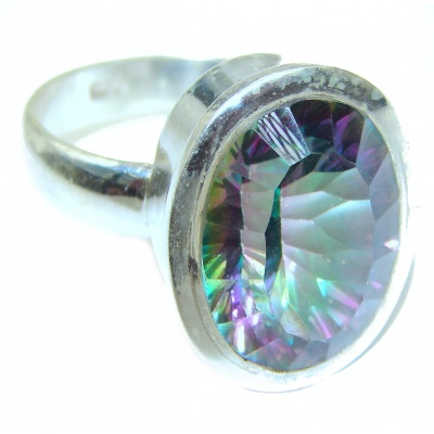 Awesome Natural Magic Topaz .925 Silver Ring size 10 1/2