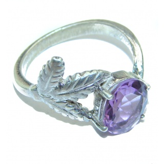 Alessandra Natural Amethyst .925 Sterling Silver handcrafted ring size 8