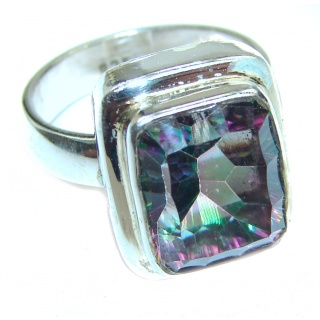 Awesome Natural Magic Topaz .925 Silver Ring size 6 1/4
