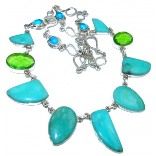 Natural Chrysoprase .925 Sterling Silver handmade necklace