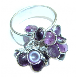 Cha- Cha Amethyst .925 Sterling Silver handcrafted ring size 9