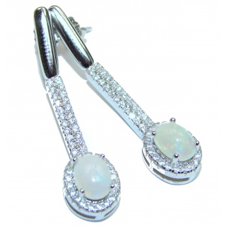 Classy Design Ethiopian Opal .925 Sterling Silver handmade earrings
