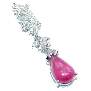 Very Elegant Authentic Ruby .925 Sterling Silver Pendant