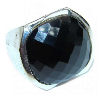 Majestic Authentic Onyx .925 Sterling Silver handmade Ring s. 7