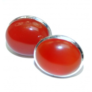 Sublime Orange Carnelian .925 Sterling Silver handmade earrings