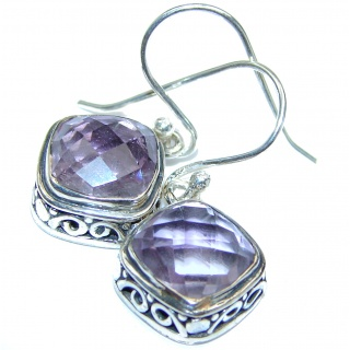 Purple LOVE Amethyst .925 Sterling Silver handmade Earrings