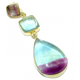 Secret Beauty Purple Fluorite 18k Gold over .925 Sterling Silver Pendant