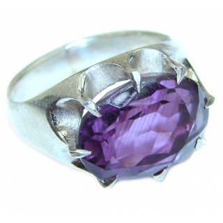 Purple Perfection Amethyst .925 Sterling Silver Ring size 6 1/4