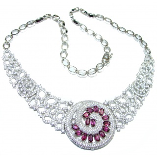 Perpetum mobile Masterpiece Garnet .925 Sterling Silver handcrafted necklace