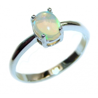 Hot Ethiopian Opal .925 Sterling Silver handcrafted ring size 9 1/4