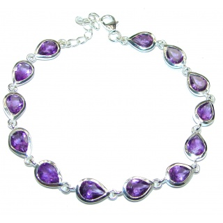 Authentic Citine Amethyst .925 Sterling Silver handcrafted Bracelet