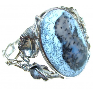 Huge Beatiful Design Dendritic Agate .925 Sterling Silver handcrafted Bracelet