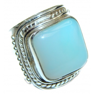 Top Quality Botswana Agate .925 Sterling Silver hancrafted Ring s. 8
