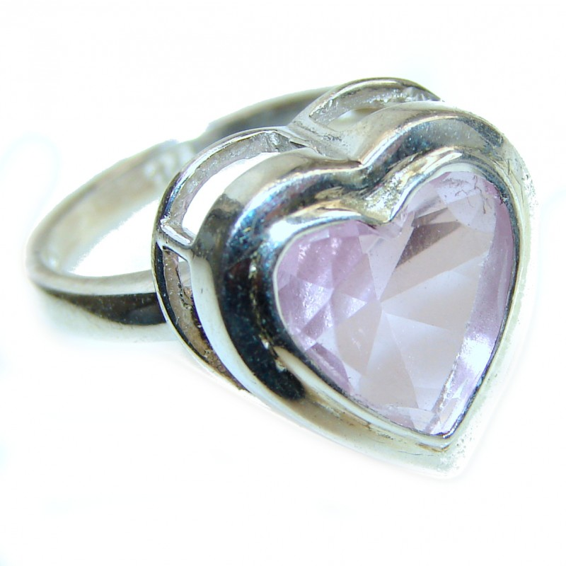 Sweet Heart Topaz .925 Silver handcrafted Ring s. 7