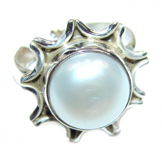 Pearl .925 Sterling Silver handmade ring size 6 3/4