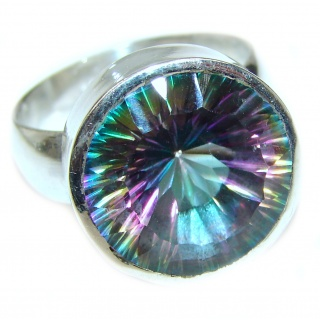 Awesome Natural Magic Topaz .925 Silver Ring size 12