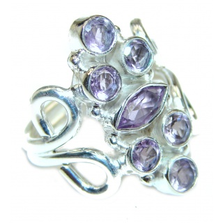Purple Perfection Amethyst .925 Sterling Silver Ring size 7