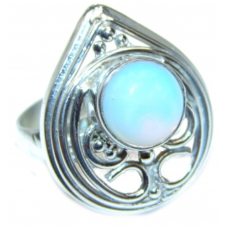 Great Beauty Opalite Sterling Silver ring s. 9