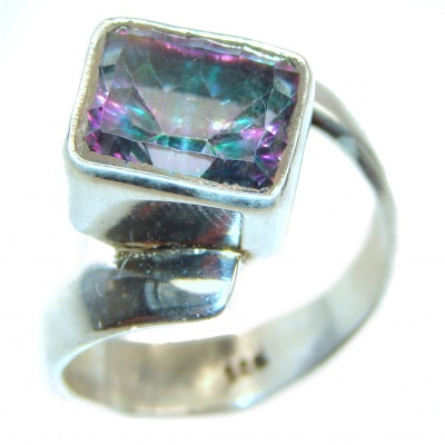 Perfect Mystic Topaz Sterling Silver Ring s. 10