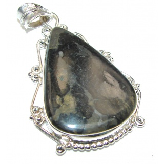 Silver Moon Jasper .925 Sterling Silver handcrafted pendant