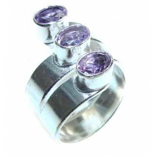 Purple Perfection Amethyst .925 Sterling Silver Ring size 9 3/4