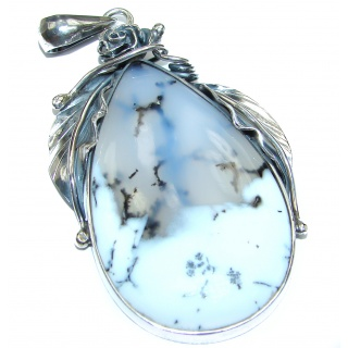 Perfect Storm Perfect quality Dendritic Agate .925 Sterling Silver handmade Pendant
