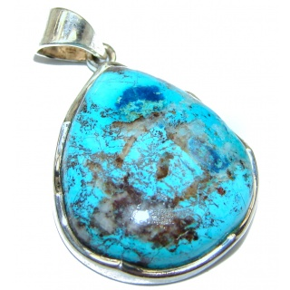 Azurite .925 Sterling Silver handmade Pendant