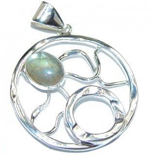 Labradorite .925 Sterling Silver handcrafted pendant